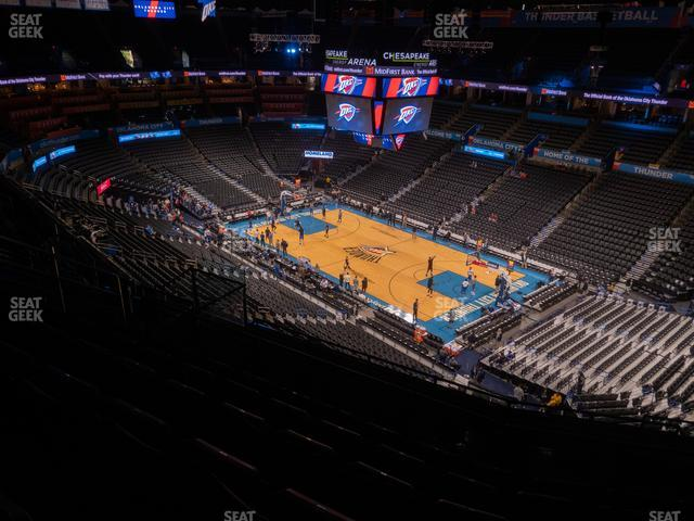 Chesapeake Energy Arena Section 320 view