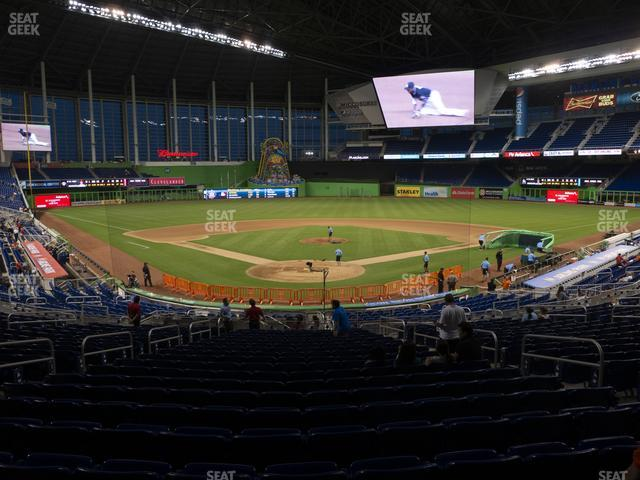 Marlins Park Section 14 view