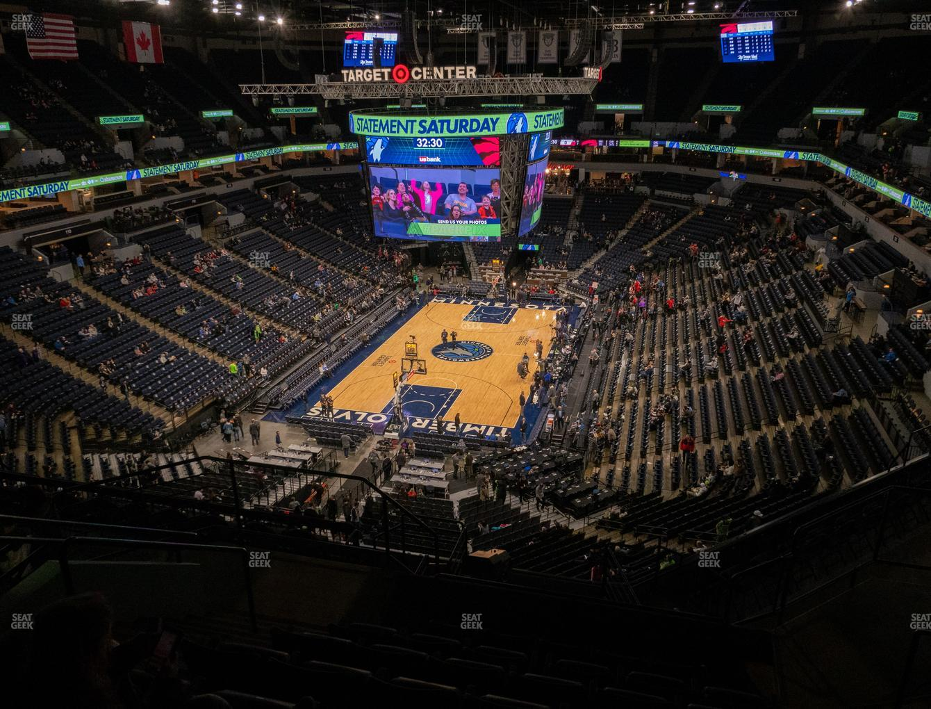 Minnesota Lynx at Target Center Section 239 View