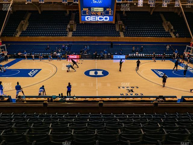 Cameron Indoor Stadium Section 14 view
