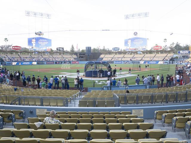 Dodger Stadium Field Box 1 view