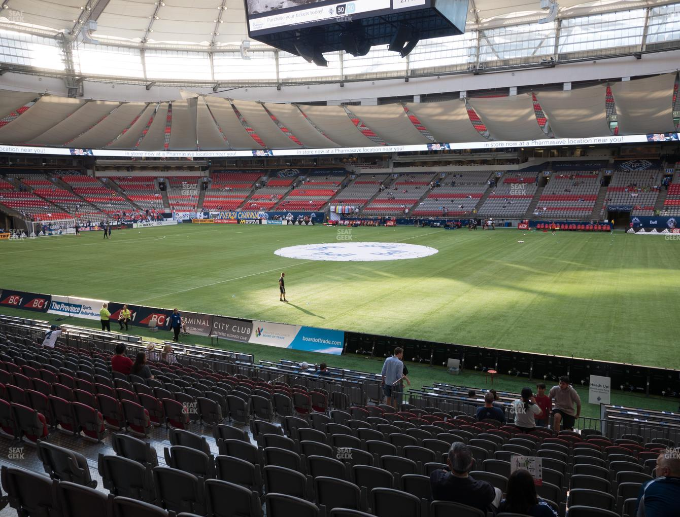 Vancouver Whitecaps FC at BC Place Stadium Section 239 View