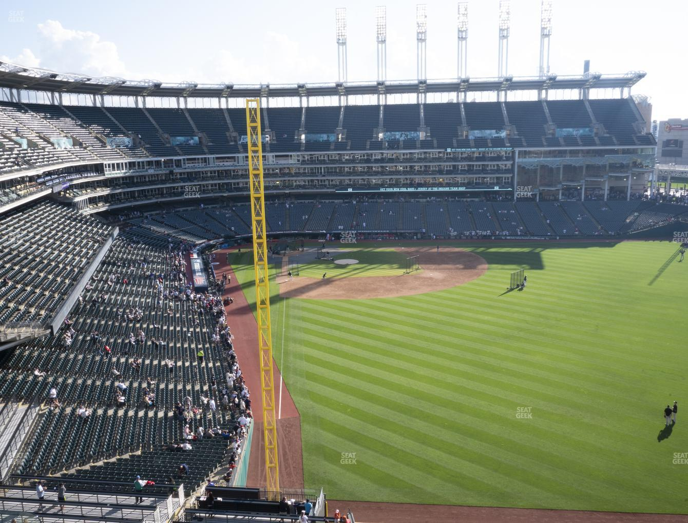 Cleveland Indians at Progressive Field Section 414 View