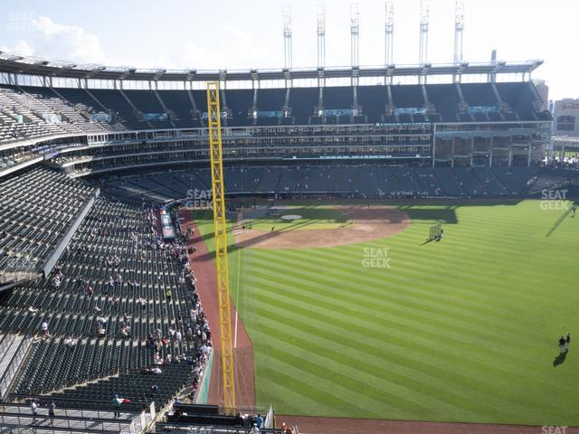Progressive Field Section 414 view