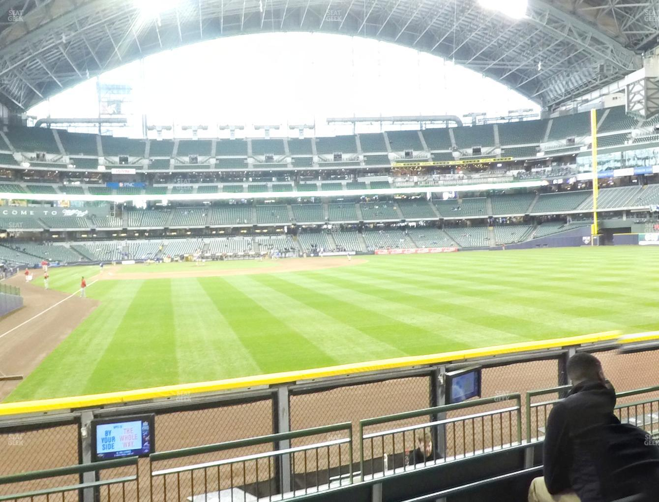 Milwaukee Brewers at Miller Park Section 104 View