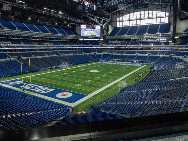 Lucas Oil Stadium Section 349 view