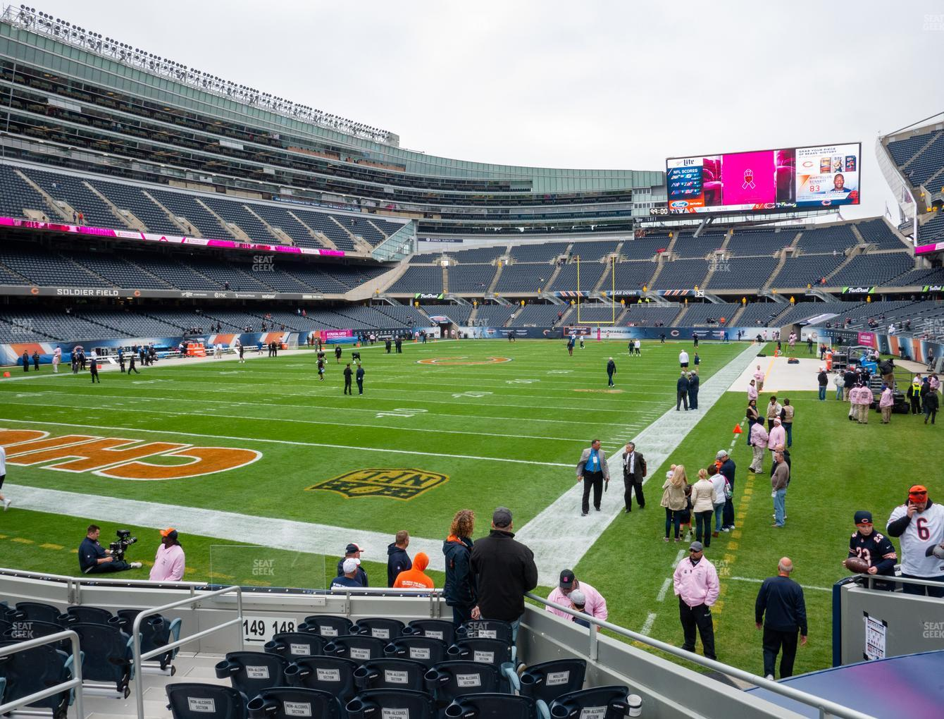 Chicago Bears at Soldier Field Section 148 View