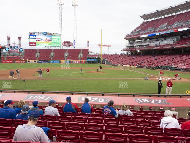 Great American Ball Park Section 118 view