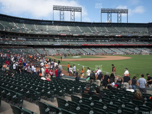 Oracle Park Section 101 view