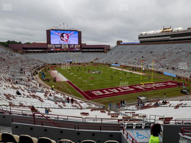 Doak Campbell Stadium Section Club 226 view