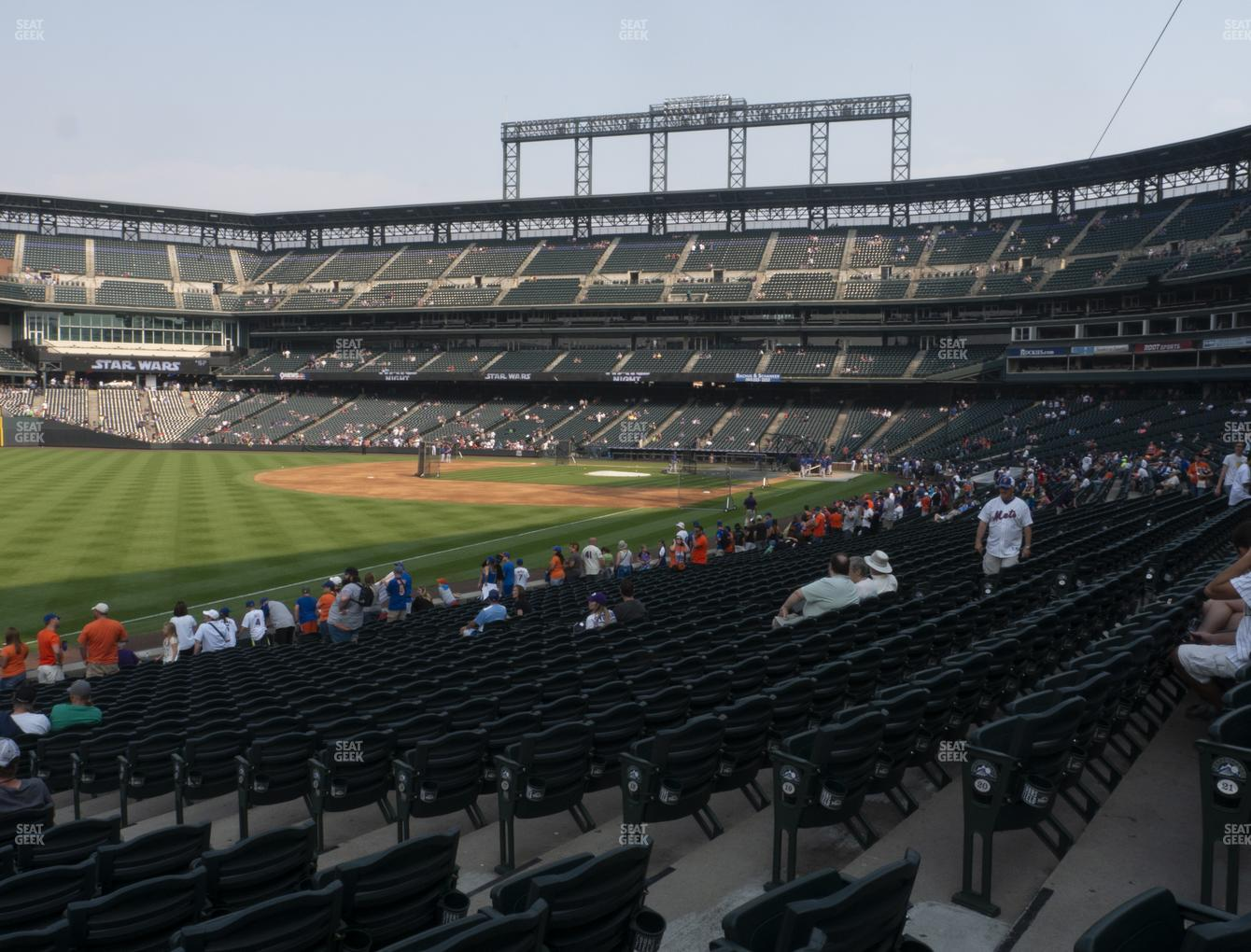 Colorado Rockies at Coors Field Section 147 View