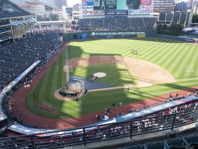 Progressive Field Section 450 view