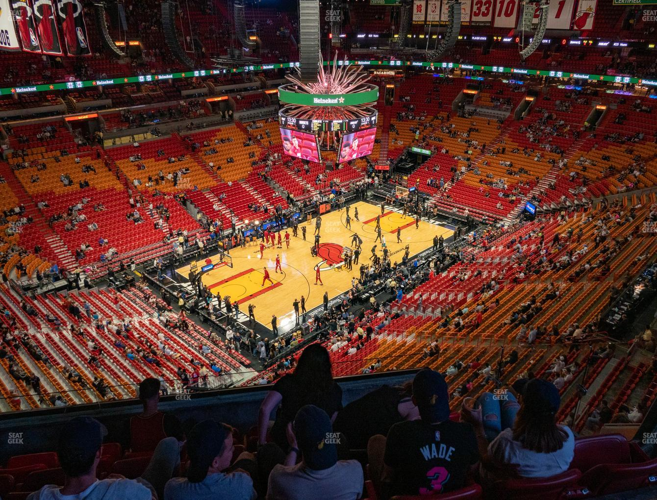 american airlines arena section 411 seat views | seatgeek