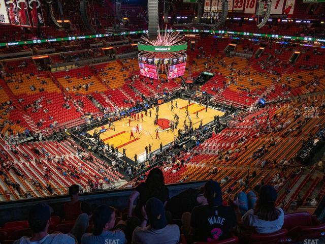 American Airlines Arena Section 411 view