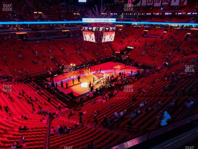 American Airlines Arena Section 312 view