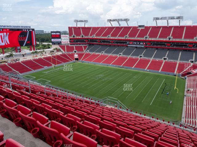 Raymond James Stadium Section 340 view