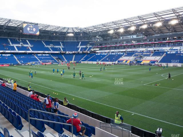 Red Bull Arena Section 123 view