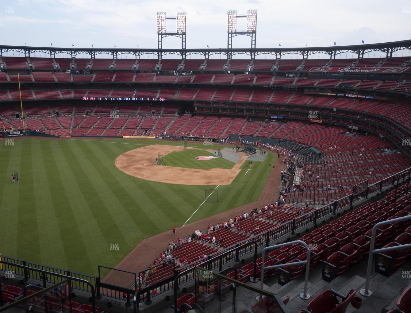St. Louis Cardinals at Busch Stadium Left Field Pavilion 369 View