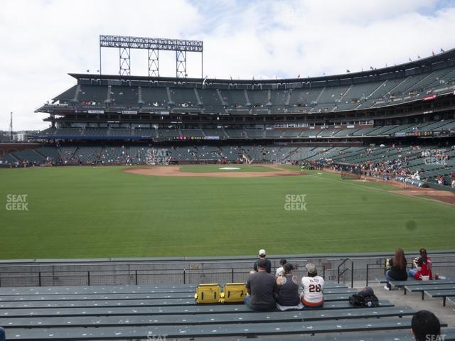 Oracle Park Bleachers 138 view