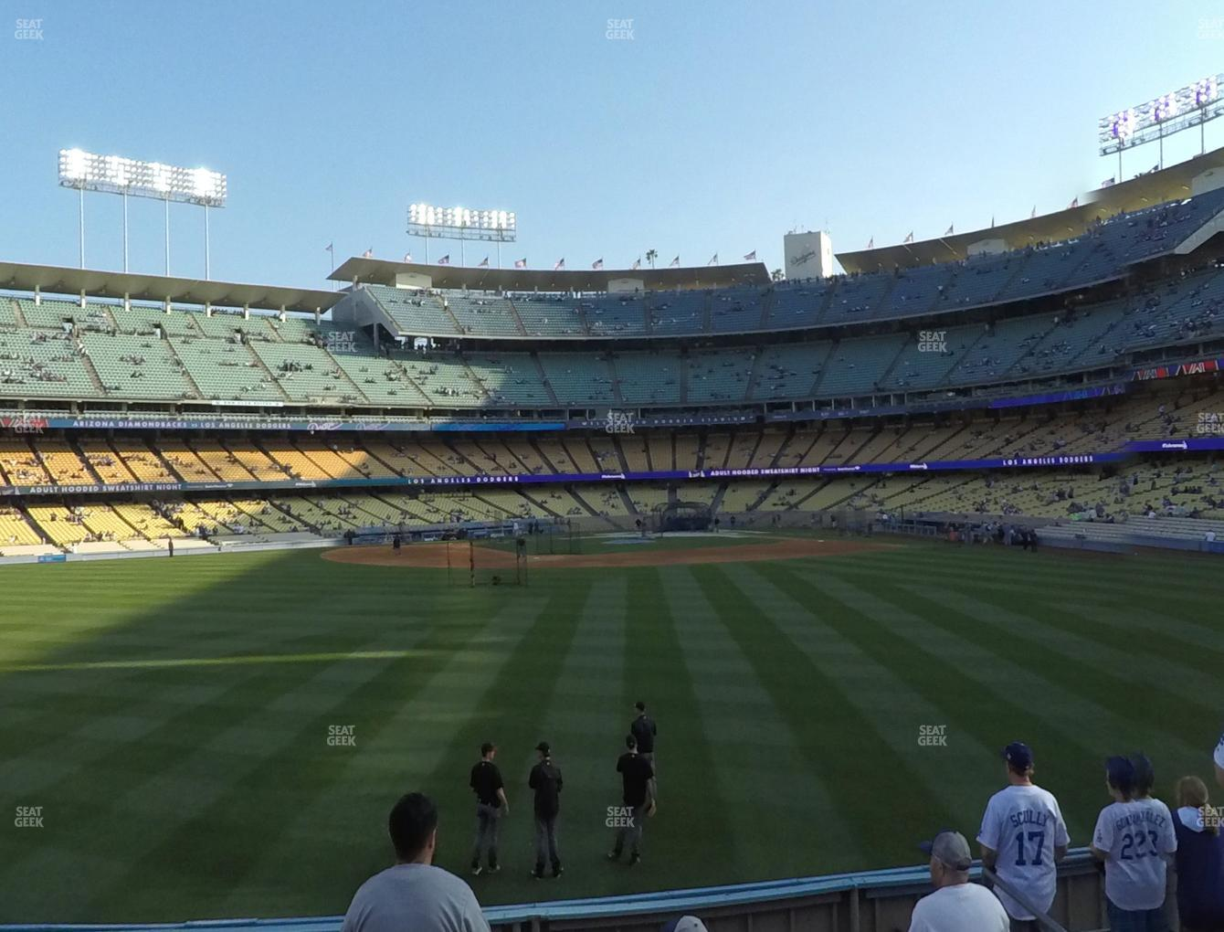 Los Angeles Dodgers at Dodger Stadium Left Field Pavilion 309 View