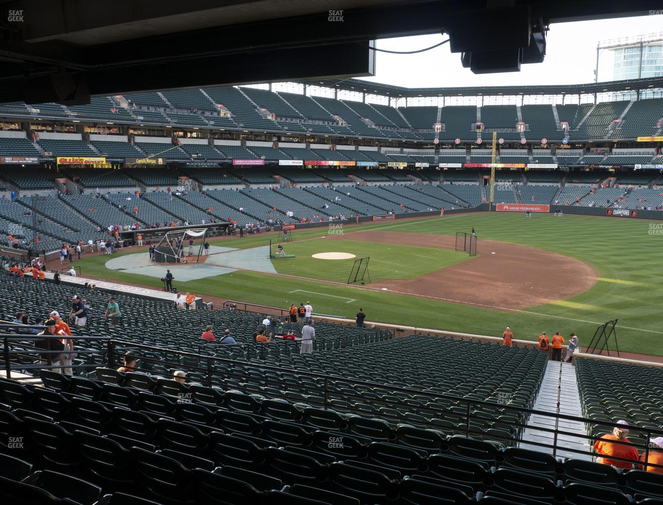 Baltimore Orioles at Oriole Park at Camden Yards Section 15 View
