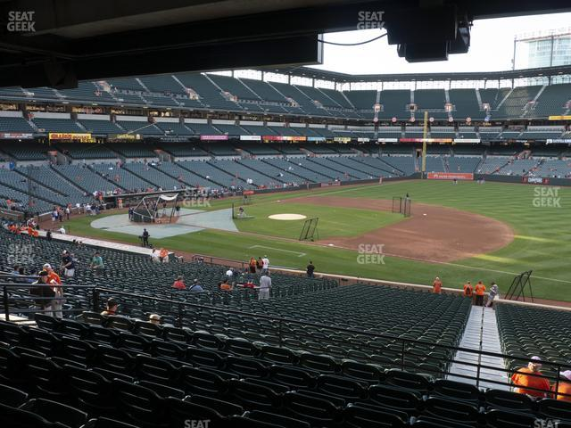 Oriole Park at Camden Yards Section 15 view