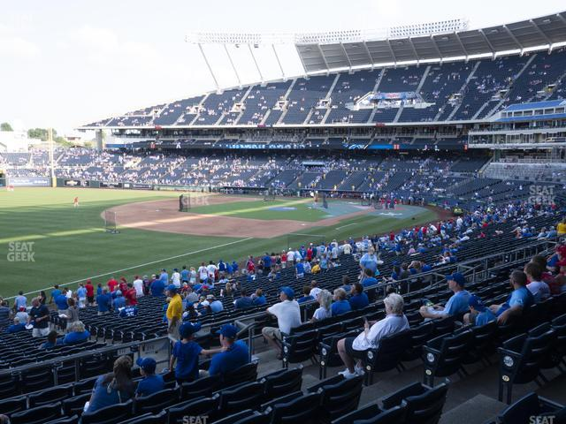 Kauffman Stadium Section 212 view
