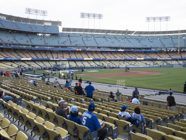 Dodger Stadium Field Box 40 view