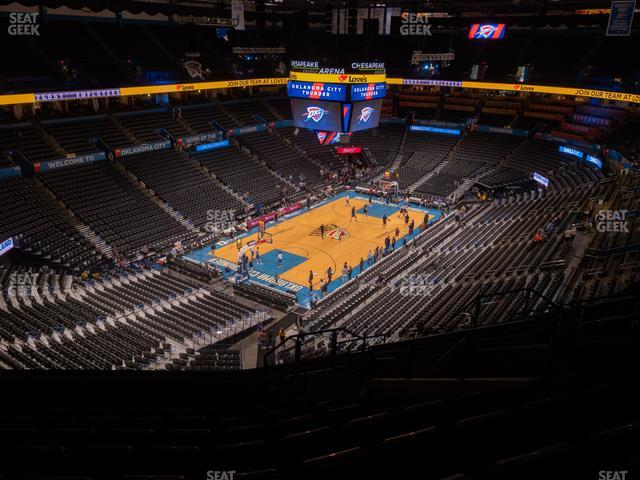 Chesapeake Energy Arena Section 313 view