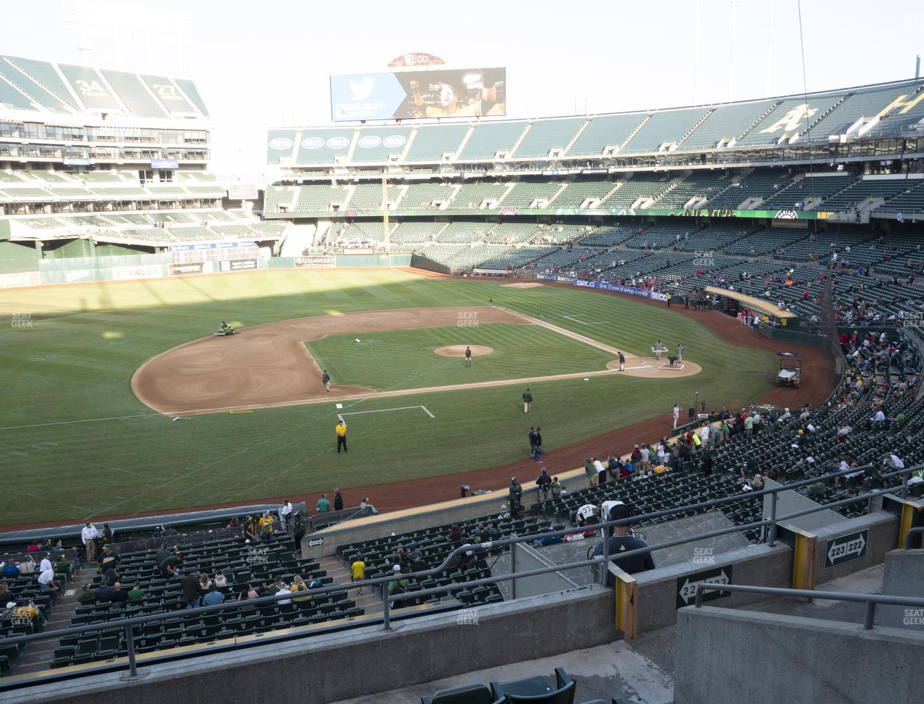 Oakland Athletics at Oakland-Alameda County Coliseum Section 223 View