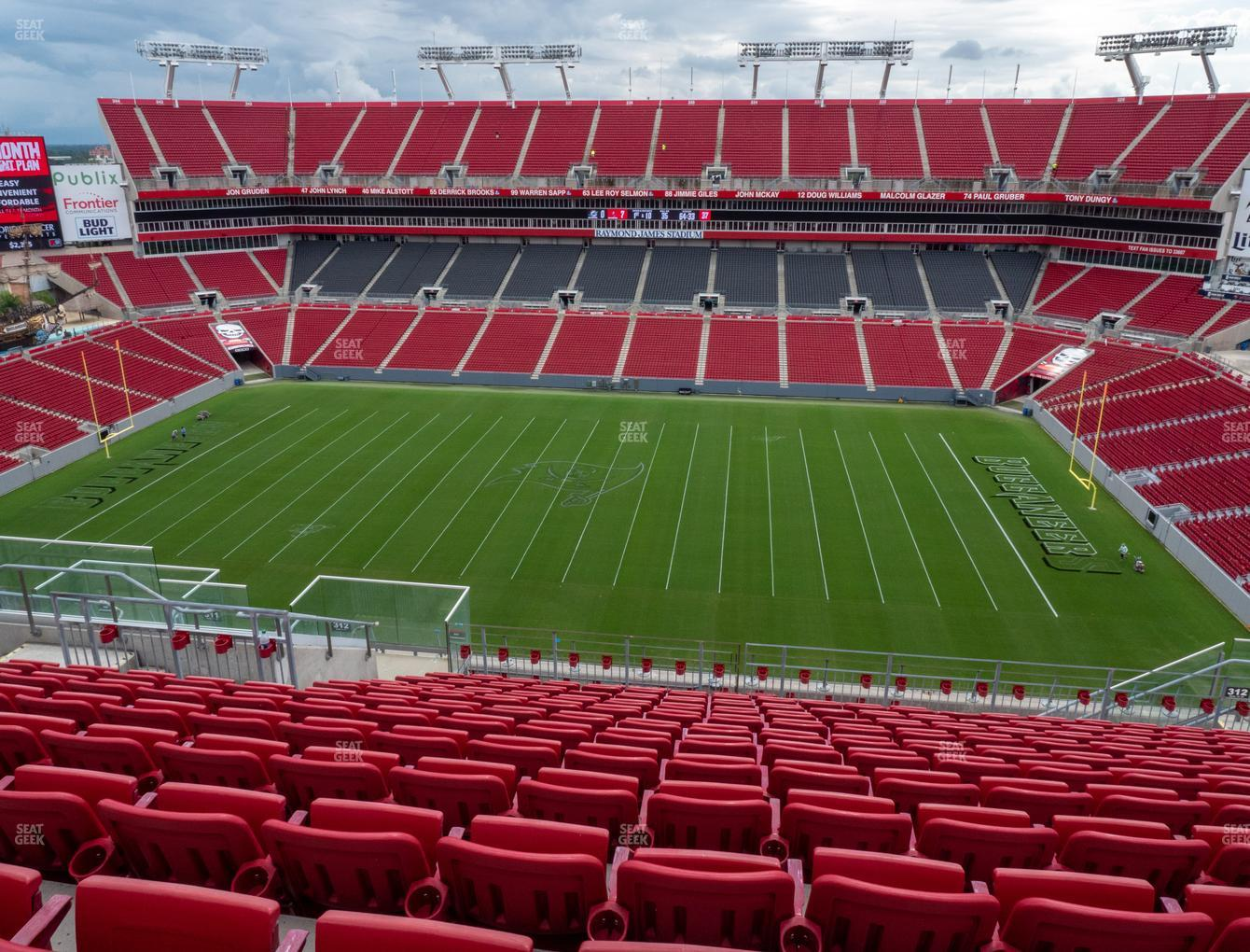 Tampa Bay Buccaneers at Raymond James Stadium Section 312 View