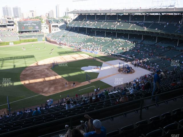 Wrigley Field Section 408 Left view