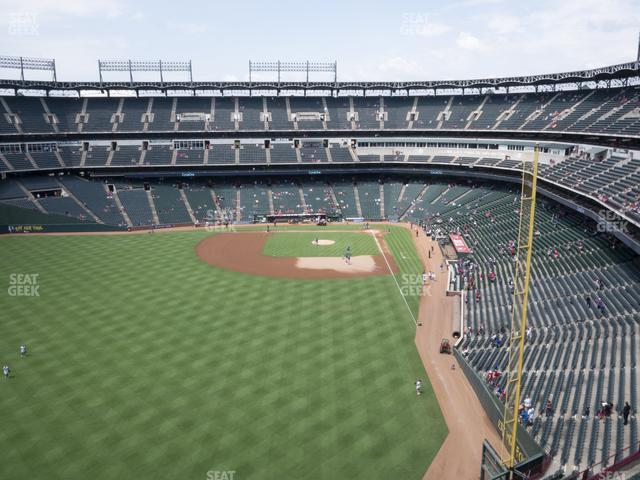 Globe Life Park Section 305 view