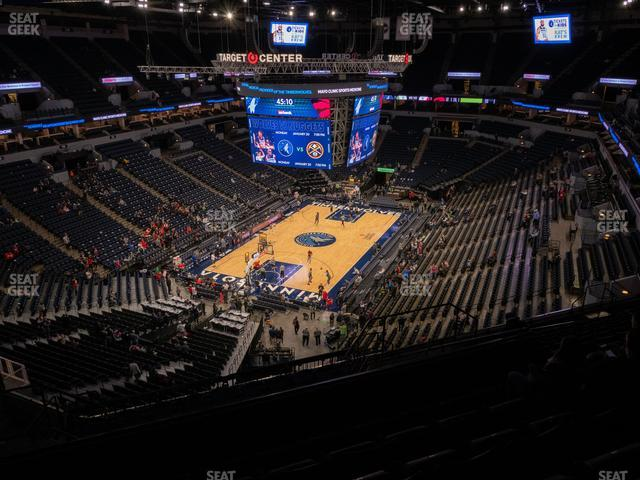 Target Center Section 218 view