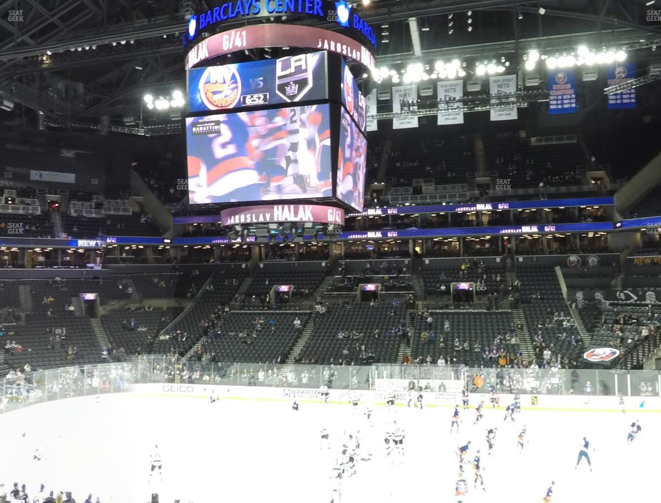New York Islanders at Barclays Center Section 107 View