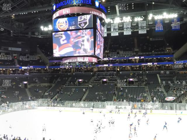 Barclays Center Section 107 view