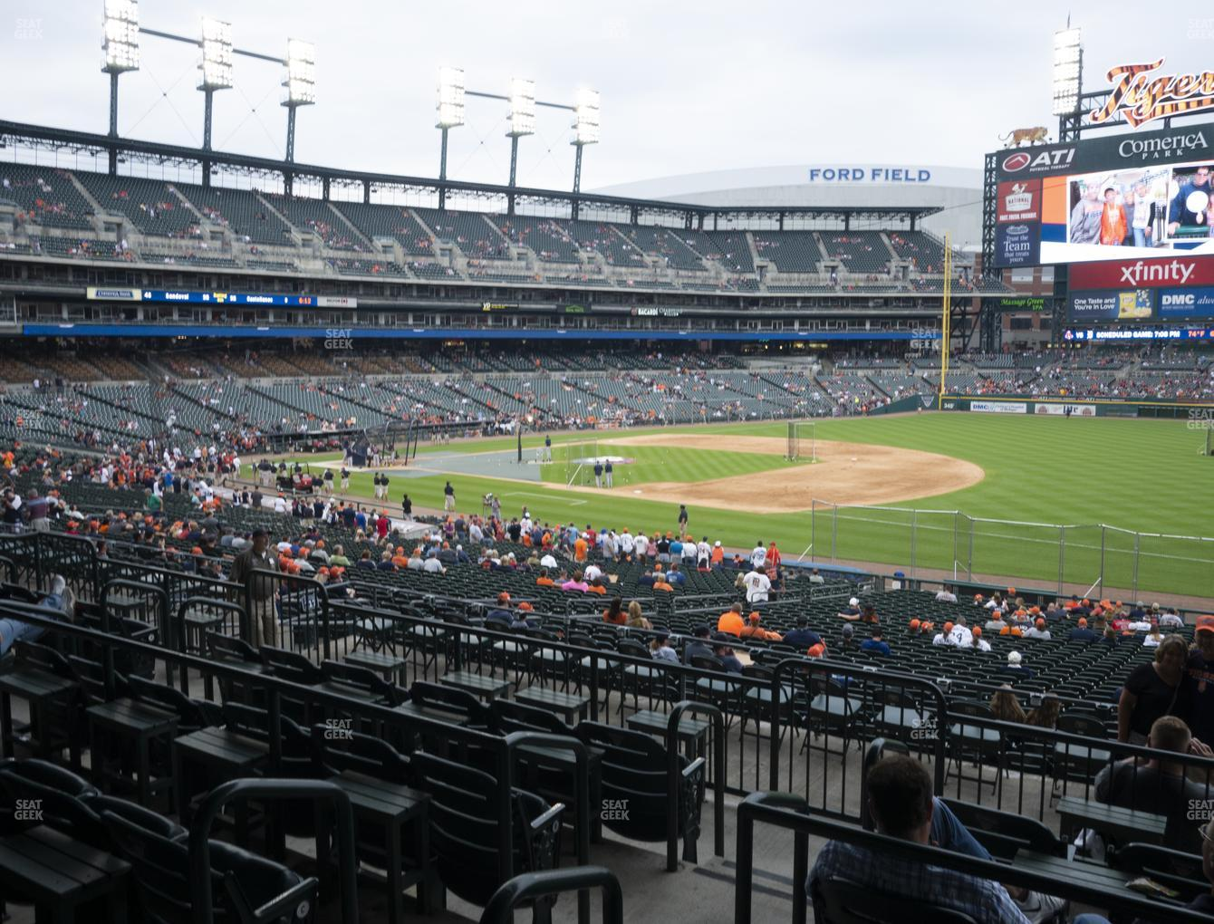 Detroit Tigers at Comerica Park Section 117 View