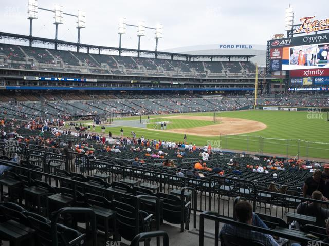 Comerica Park Section 117 view