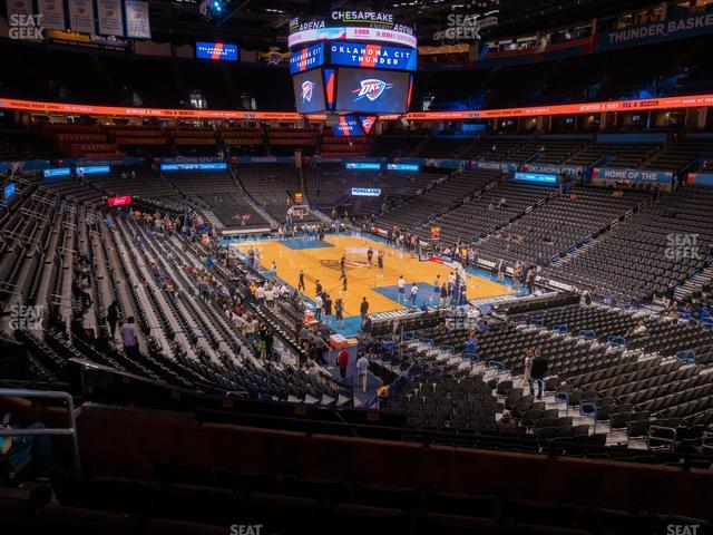 Chesapeake Energy Arena Section 218 view