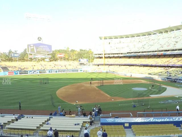 Dodger Stadium Loge Box 137 view