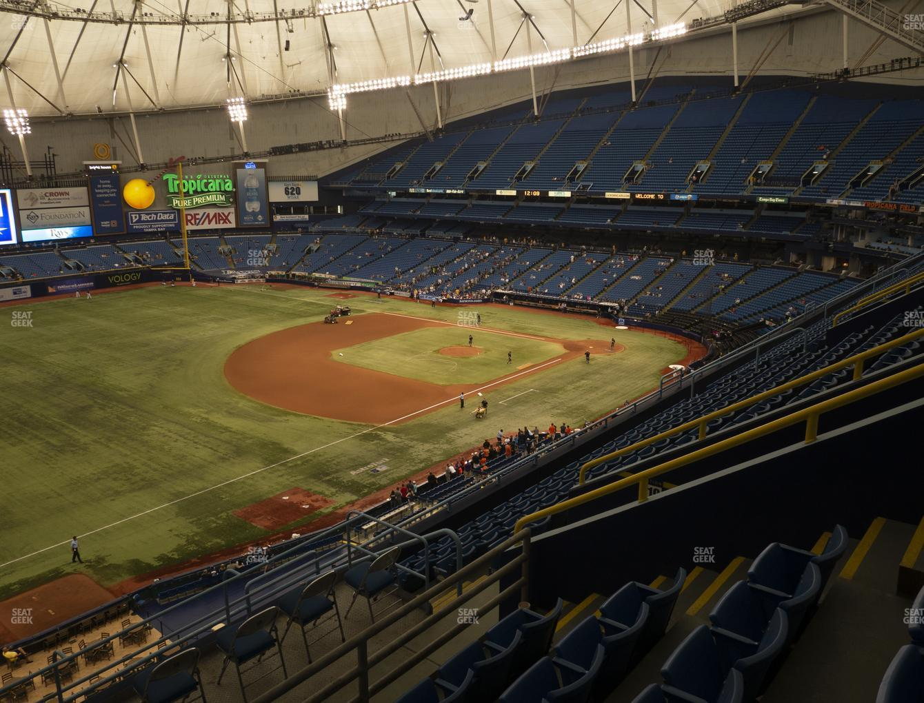 Tampa Bay Rays at Tropicana Field Section 321 View