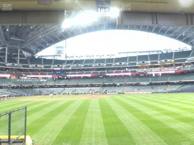 Miller Park Section 102 view