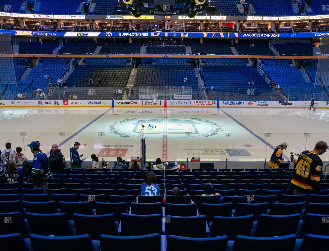 Buffalo Sabres at KeyBank Center Section 105 View