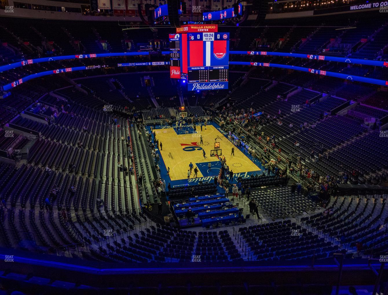 Philadelphia 76ers at Wells Fargo Center Section 218 View