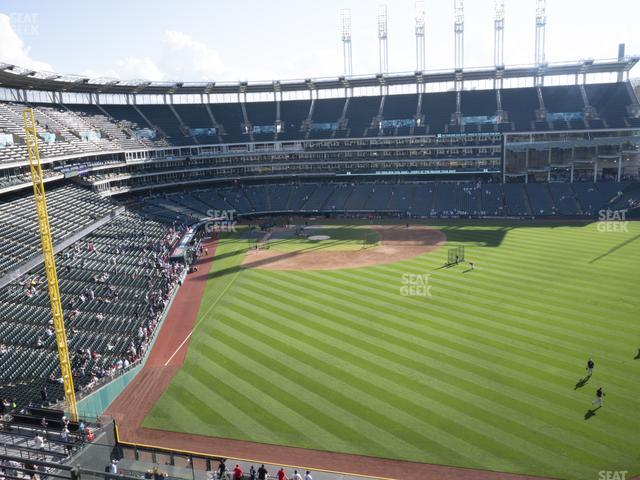 Progressive Field Section 410 view