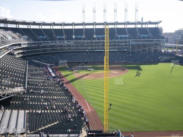 Progressive Field Section 416 view