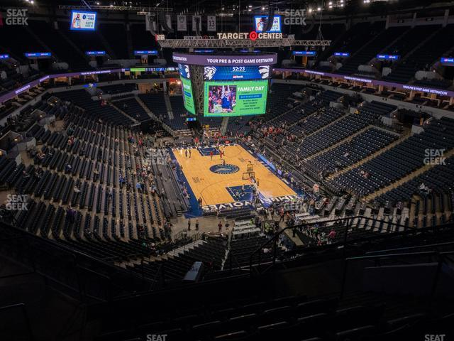 Target Center Section 203 view