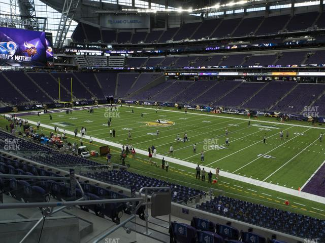 U.S. Bank Stadium Section 126 view