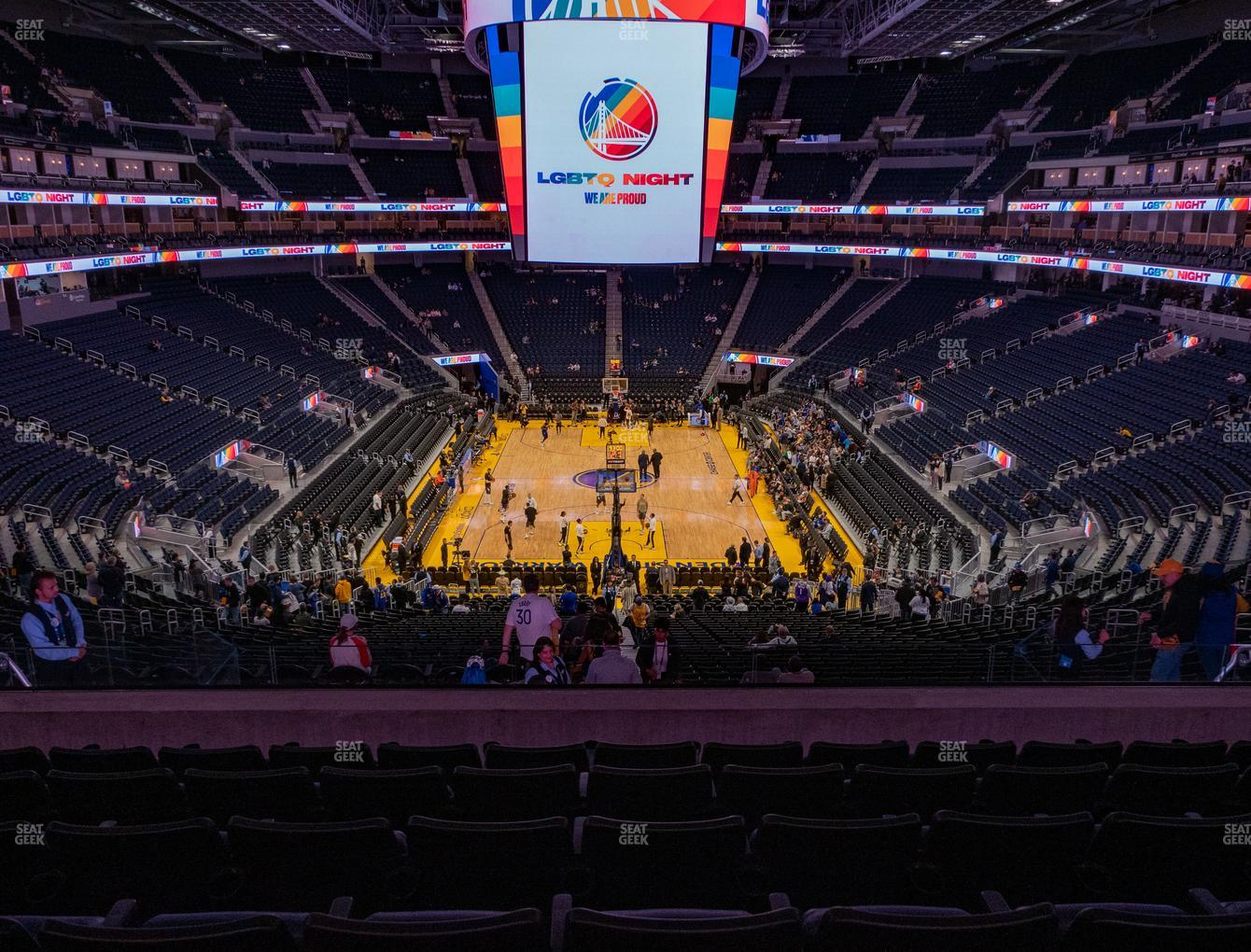 Golden State Warriors at Chase Center Section 127 View
