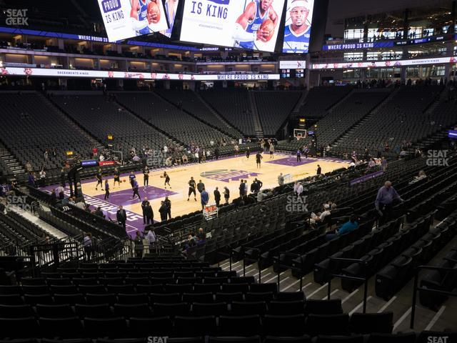 Golden 1 Center Section 110 view